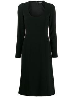 Dolce & Gabbana платье с U-образным вырезом