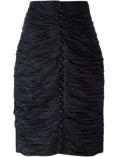 Lanvin Pre-Owned юбка-карандаш со сборкой