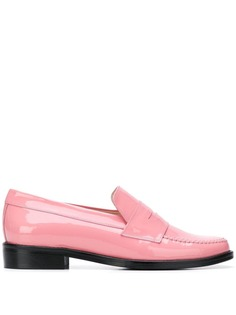 Leandra Medine contrast sole loafers