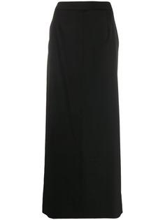 Maison Margiela юбка макси с разрезом
