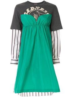 Sueundercover платье с длинными рукавами и вставками