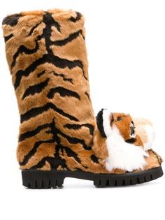 Dolce & Gabbana сапоги с декором в виде тигра