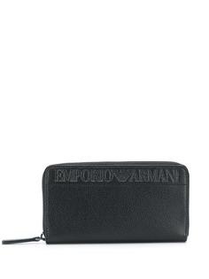 Emporio Armani кошелек с круговой молнией и логотипом