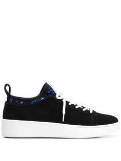 Kenzo кроссовки с контрастной шнуровкой