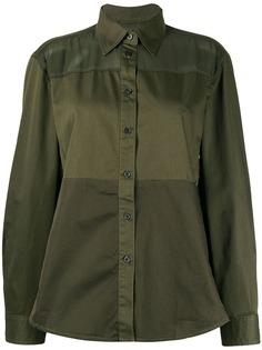 Diesel прозрачная рубашка со вставками