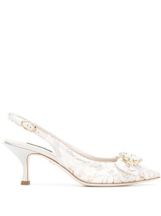 Dolce & Gabbana кружевные туфли с ремешком на пятке