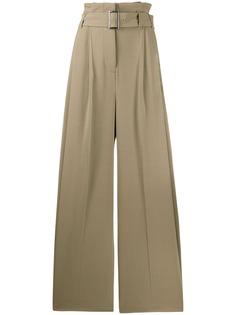 Burberry брюки широкого кроя с присборенной талией