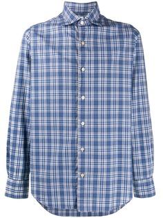 Finamore 1925 Napoli клетчатая рубашка с длинными рукавами