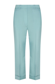 Бирюзовые брюки со стрелками Fendi