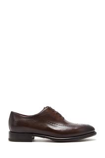 Коричневые кожаные туфли с перфорацией Barrett