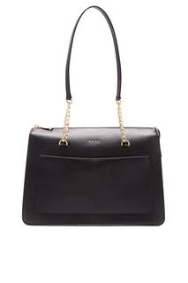 Черная сумка с карманом Dkny