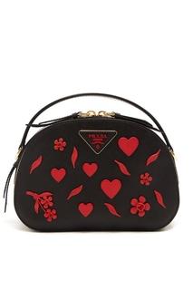 Черная сумка Odetta с отделкой Prada