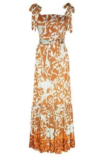 Платье-бандо с растительным принтом Johanna Ortiz