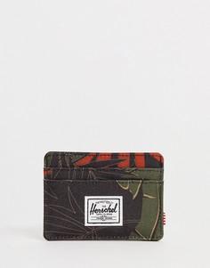 Кредитница с тропическим пальмовым принтом и RFID-защитой Herschel Supply Co Charlie - Мульти