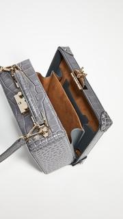 MCM Berlin Embossed Croco Small Crossbody Bag