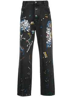 Simon Miller джинсы с эффектом разбрызганной краски