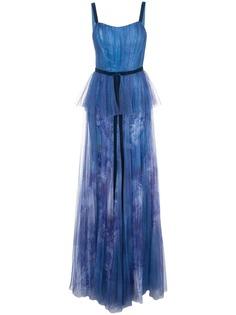 Marchesa Notte вечернее платье из тюля с пайетками