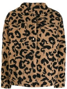 Apparis шуба из искусственного меха с леопардовым узором