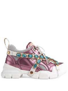 Gucci кроссовки Flashtrek со съемным декором