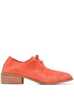 Marsèll туфли дерби на наборном каблуке