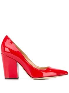 Sergio Rossi туфли на наборном каблуке