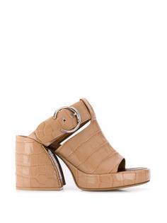 Chloé босоножки на массивном каблуке