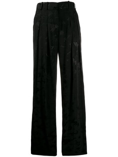 Victoria Victoria Beckham жаккардовые брюки с анималистичным узором