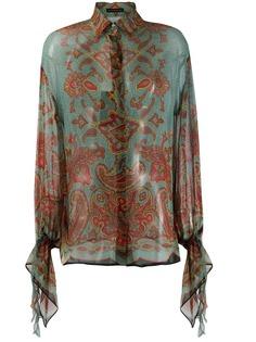 Etro блузка с длинными рукавами и принтом