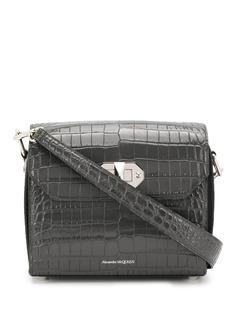 Alexander McQueen сумка на плечо с тиснением под кожу крокодила
