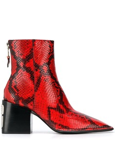 Alexander Wang snakeskin pattern ankle boots
