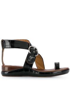 Chloé сандалии на плоской подошве