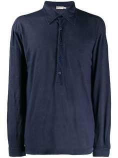 Giorgio Armani Pre-Owned рубашка-поло 1990-х годов с длинными рукавами