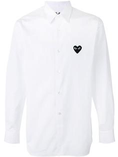 Comme Des Garçons Play рубашка с заплаткой в форме сердца