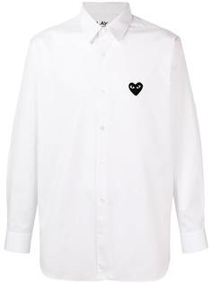 Comme Des Garçons Play рубашка с логотипом в форме сердца