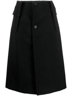 Maison Margiela юбка А-силуэта на пуговицах