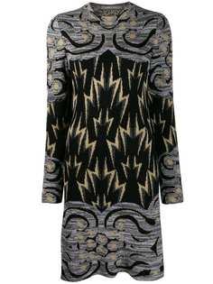 Alberta Ferretti трикотажное платье с узором