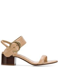 Chloé босоножки на наборном каблуке