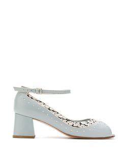 Sarah Chofakian туфли-лодочки на наборном каблуке