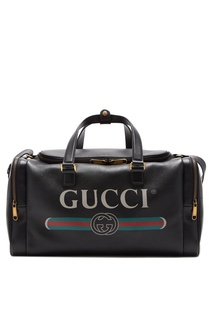 Кожаная спортивная сумка Gucci Print
