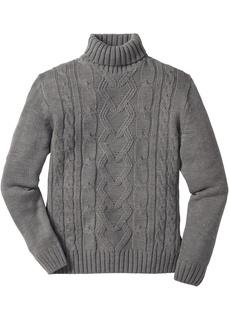 Пуловер с воротником гольф Bonprix
