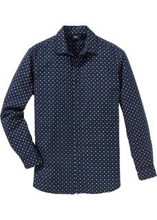 Рубашка с минималистическим принтом и длинным рукавом Bonprix
