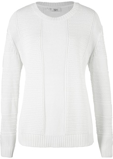Пуловер из структурного материала Bonprix