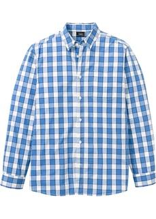 Рубашка в клетку, длинный рукав Bonprix