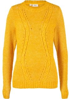 Пуловер структурной вязки Bonprix