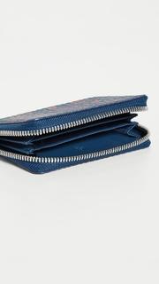 MCM Visetos Original Zipped Card Case