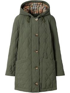 Burberry стеганое пальто