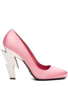 Prada туфли-лодочки на скульптурном каблуке