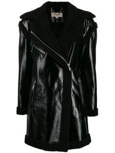 Michael Michael Kors пальто на молнии с подкладкой из овчины