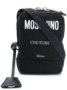 Moschino сумка на плечо с контрастным логотипом