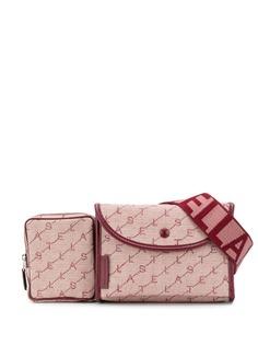 Stella McCartney парусиновая поясная сумка с монограммой